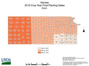 2019 Kansas Corn final plant date